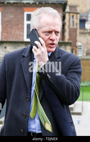 Westminster, London, UK. 20th Mar, 2019. Bracknell MP Phillip Lee in Westminster. Dr Phillip Lee resigned last June as Justice Minister over the Government's handling of Brexit. Credit: Dinendra Haria/Alamy Live News - Stock Photo