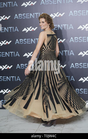Madrid, Spain. 20th Mar, 2019. STANA KATIC attends 'Absentia' photocall at Espacio Beatriz in Madrid, Spain Credit: Jack Abuin/ZUMA Wire/Alamy Live News - Stock Photo