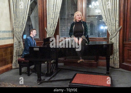 London, UK. 20th Mar, 2019. London, England. Dilly Keane, Layla Moran and Siobhan Benita attend Orpington Reception in David Lloyd George Room at National Liberal Club. Credit: Peter Hogan/Alamy Live News - Stock Photo