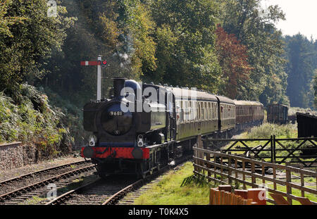 The Age of Steam, Vintage Steam Locomotive on the Dean Forest Railway in Gloucestershire, England - Stock Photo