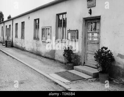 geography / travel, Germany, Dachau, concentration camp, refugee camp, church, 1960, Additional-Rights-Clearance-Info-Not-Available - Stock Photo