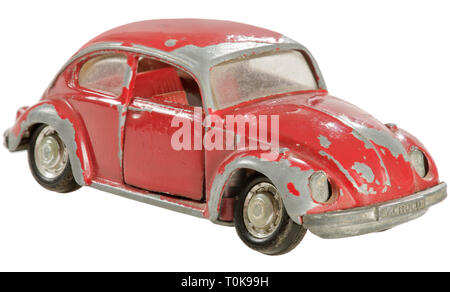 toys, toy cars, VW Beetle, VW 1302, 50 PS, 1600 ccm cylinder capacity, four-cylinder opposed cylinder engine, maximum speed 130 km/h, Germany, 1970, Additional-Rights-Clearance-Info-Not-Available - Stock Photo