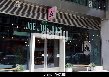 Victoria Street Westminster London England  Joe and The Juice Restaurant - Stock Photo
