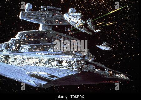 STAR WARS: EPISODE V - THE EMPIRE STRIKES BACK, STAR DESTROYER, 1980 - Stock Photo