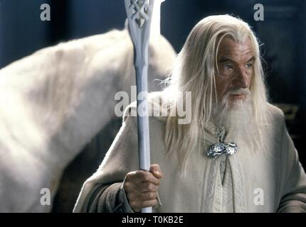 SIR IAN MCKELLEN, THE LORD OF THE RINGS: THE TWO TOWERS, 2002 - Stock Photo