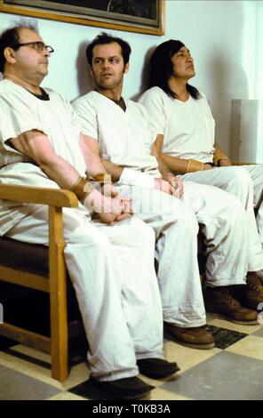 SYDNEY LASSICK, JACK NICHOLSON, WILL SAMPSON, ONE FLEW OVER THE CUCKOO'S NEST, 1975 - Stock Photo
