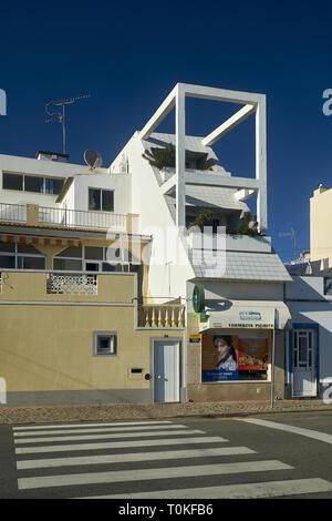 Architecture in Santa Luzia near Tavira, Fraro, Algarve, Portugal - Stock Photo