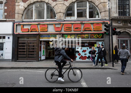 Las Vegas amusement arcade, Wardour Street, Soho, London, England , UK - Stock Photo