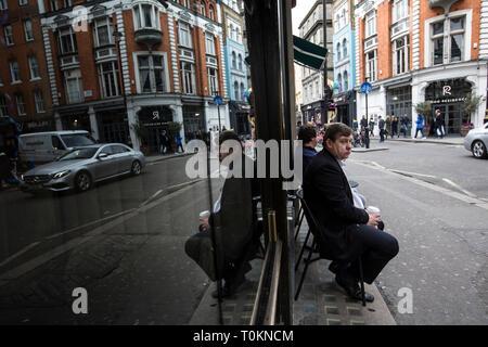 Wardour Street, Soho, London, UK - Stock Photo
