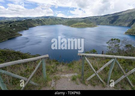 Cuicocha lake in Ecuador - Stock Photo
