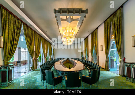 Decorated Living room designed in the 19th century preserved in museums in Ho Chi Minh City, Vietnam - Stock Photo
