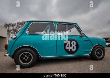 Testing day for the 77th Member's Meeting at Goodwood Motor Circuit, Chichester, West Sussex, UK - Stock Photo