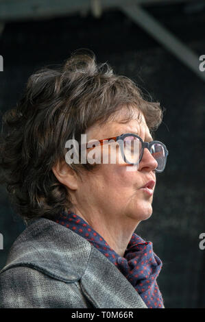 H.E. Lyndal Walker Ambassador Of New Zealand At Public Demonstration Against Massacre At Christchurch New Zealand At Amsterdam The Netherlands 17-3-20 - Stock Photo
