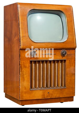 broadcast, television, TV set, typ Nordmende, Germany, 1953, Additional-Rights-Clearance-Info-Not-Available - Stock Photo
