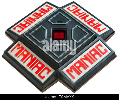 game, electronic games, Maniac, electronic toys, by the Japanese producer ideal toy corporation, very early, video game, for two up to four player, developed by the German-American Ralph bear, Japan, 1979, Additional-Rights-Clearance-Info-Not-Available - Stock Photo