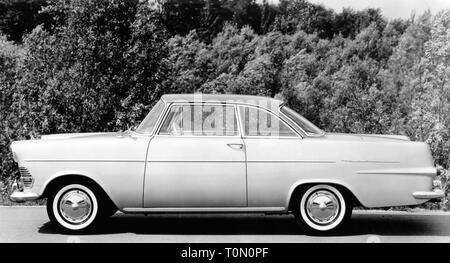 transport / transportation, cars, vehicle variants, Opel Rekord A coupe, side view, Germany, 22.8.1961, Additional-Rights-Clearance-Info-Not-Available - Stock Photo