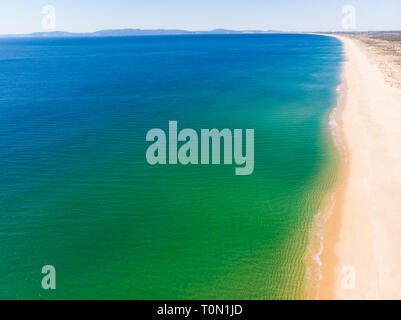 Aerial view of Carvalhal Beach in Comporta, Portugal - Stock Photo