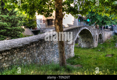 Exterioir view to Tanners Bridge near Lana river in tirana, Albania - Stock Photo