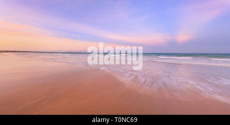 Cable Beach, Broome, Western Australia. A beautiful sunrise over Cable Beach, WA - Stock Photo