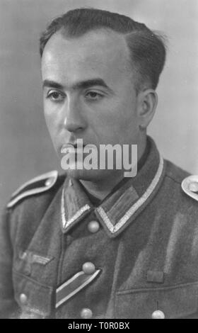 Nazism / National Socialism, military, army, sergeant, 1943, Additional-Rights-Clearance-Info-Not-Available - Stock Photo