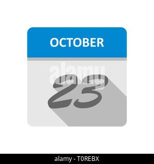 October 23rd Date on a Single Day Calendar - Stock Photo