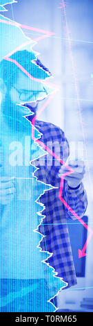 Composite image of stocks and shares - Stock Photo