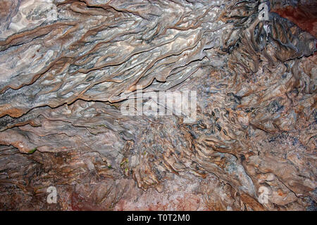 Patterns on the wall in one of the many caves in Guilin area, Guangxi, China - Stock Photo