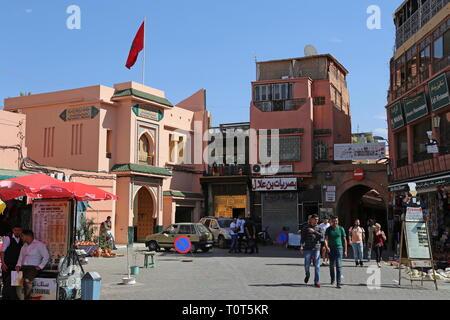 Jemaa el Fna, Medina, Marrakesh, Marrakesh-Safi region, Morocco, north Africa - Stock Photo