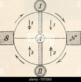 Elektrophysiologie (1895) Elektrophysiologie  elektrophysiolog00bied Year: 1895  Die elektrische Erregung der Nerven. 547 nothwendig auch der letzterenfalls inducirte Strom steiler ansteigen^ als bei der Schliessung des primären Kreises (Fig. 174). Dem ent- spricht es, dass, wie Grützner bemerkt, der Oeffimngsschlag im Telephon einen scharfen Knack, der Schliessungsschlag dagegen einen dumpfen, matten Ton erzeugt. Um die durch die Verschiedenheit des zeitlichen Verlaufes bedingte Verschiedenheit der physiologischen Wirkung des Oeffnungs- und Schliessungsschlages auszugleichen, was auch durch d - Stock Photo