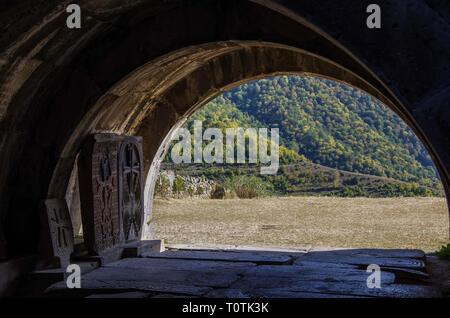 Medieval Armenian monastic complex Haghpatavank, Haghpat - Stock Photo