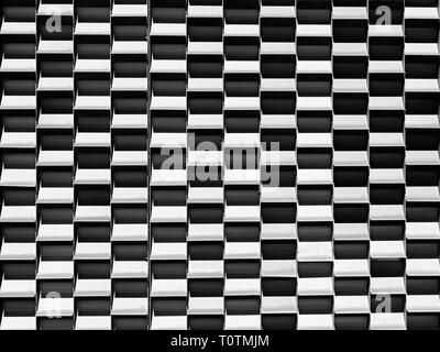 Black and white checkered pattern, background or abstract design for symmetrical concept of orderly arrangement. - Stock Photo