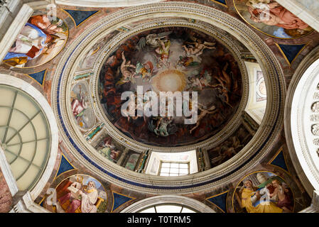 Ceilings of the Vatican Museum Rome - Stock Photo