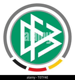 Logo of the German Football Association DFB mit seat in Frankfurt - Germany. - Stock Photo