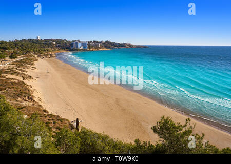 Platja Llarga Salou beach in Tarragona of Catalonia - Stock Photo