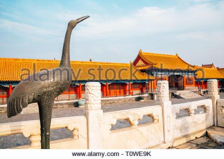 Beijing, China - September 20, 2018 : Forbidden City, Historic architecture - Stock Photo