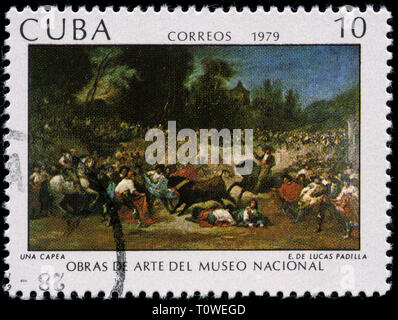 Postage stamp from Cuba in the  series issued in - Stock Photo