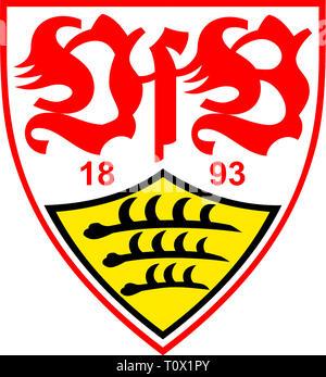 Logo of German football team VfB Stuttgart - Germany. - Stock Photo