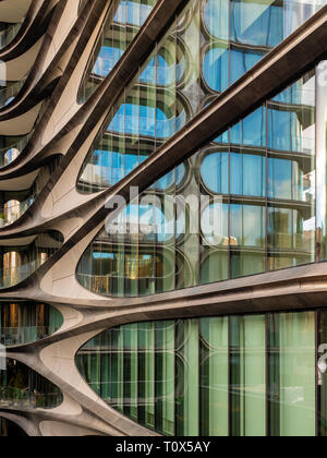 520 West 28th Street, condo designed by architect Zaha Hadid along the High Line in West Chelsea, New York City. - Stock Photo