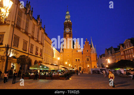 Wroclaw Old Town Hall (west elevation), Poland - Stock Photo