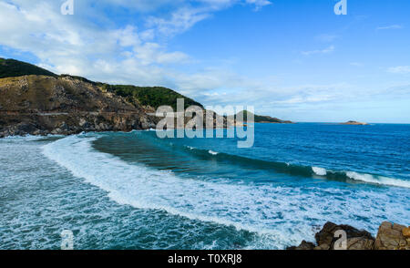 Seascape of Nha Trang, Vietnam. Nha Trang is a coastal city on the South Central Coast of Vietnam. - Stock Photo