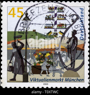 Postage stamp from the Federal Republic of Germany in the Pictures of German cities series issued in 2004 - Stock Photo