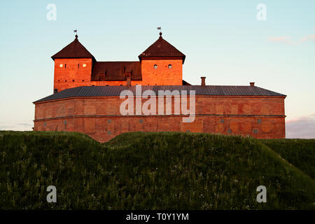 Medieval castle in Häme, Southern Finland, in summertime - Stock Photo