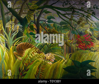 Henri Rousseau, Tiger in a Tropical Storm, Surprised!, 1891 - Stock Photo