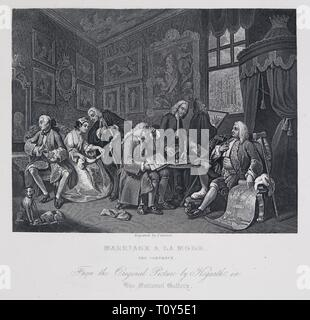 Marriage a la Mode: The Contract, 1743-1745. Creator: William Hogarth. - Stock Photo