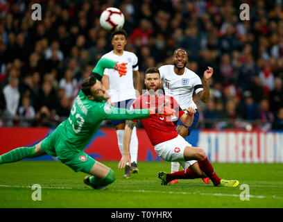 London, UK. 22nd Mar 2019. during European Championship Qualifying between England and Czech Republic at Wembley stadium, London, England on 22 Mar 2019 Credit: Action Foto Sport/Alamy Live News - Stock Photo
