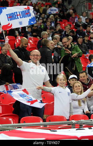London, UK. 22nd Mar, 2019. England fans during the UEFA Euro 2020 Qualifying Group A match between England and Czech Republic at Wembley Stadium on March 22nd 2019 in London, England. (Photo by Mick Kearns/phcimages.com) Credit: PHC Images/Alamy Live News - Stock Photo