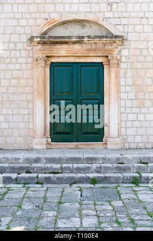 old door, lastovo, croatia - Stock Photo