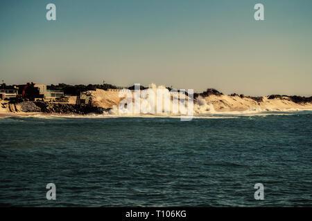 Ocean atlantic, Ofir beach in Portugal - Stock Photo