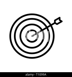Illustration Bullseye Icon - Stock Photo