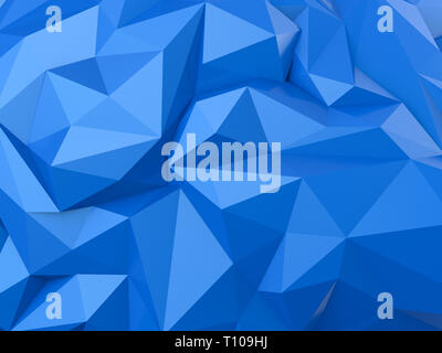 3d rendering blue low polygon abstract background - Stock Photo